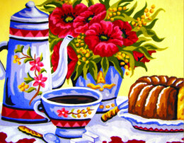 Collection D'Art Poppies Coffee Time Tapestry Kit