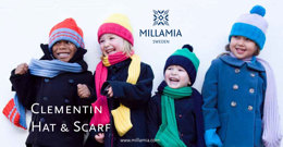 """Clementin Hat & Scarf"" - Hat Knitting Pattern in MillaMia Naturally Soft Merino"