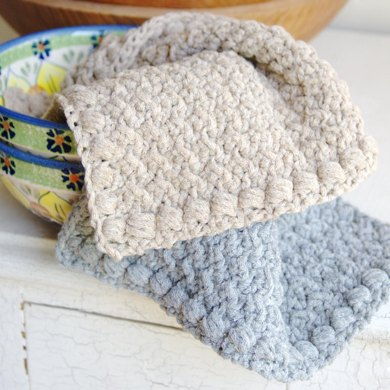 Creek Pebbles Dishcloth and Hand Towel Set
