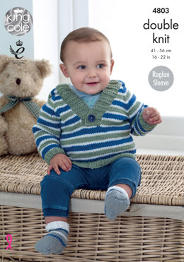 Hoody, Sweater, Cardigan & Socks in King Cole Cherished DK & Cherish DK - 4803 - Leaflet