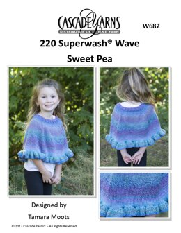 Sweet Pea Cape in Cascade 220 Superwash Wave - W682 - Downloadable PDF