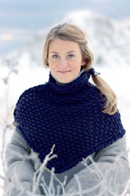 Schulterwärmer in Marine in Schachenmayr Merino Extrafine 85 - S7051 - Downloadable PDF