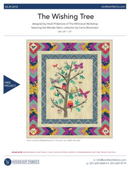 Windham Fabrics The Wishing Tree - Downloadable PDF