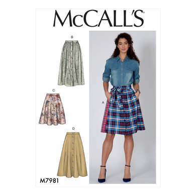 McCall's Misses' Skirts M7981 - Sewing Pattern