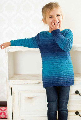 Pullover in Lang Yarns Sol Degrade - Downloadable PDF