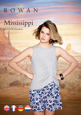 Mississippi Sleeveless Vest Top in Rowan Wool Cotton 4 Ply
