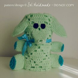 Baby blanket Elephant crochet toy & security blanket