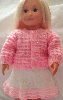 Beaded cardigan and skirt for 18inch doll