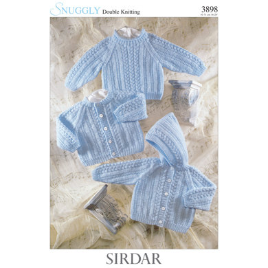 Cardigan, Sweater and Jacket in Sirdar Snuggly DK - 3898 - Downloadable PDF