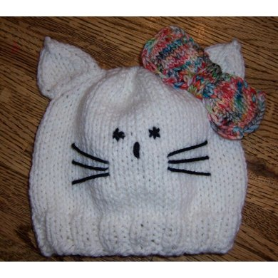 Hello Kitty Knitting Pattern Socks : Hello Kitty Hat (my version) Knitting pattern by Mary Gildersleeve Knitting...