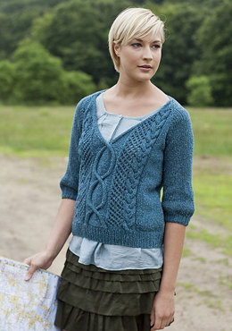 Route 1 Cabled Pullover in Berroco Remix