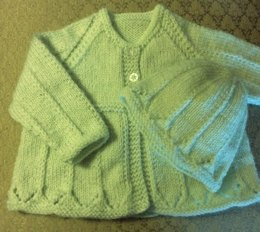 Pretty Matinee Jacket & Toque 0-3 months