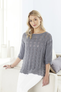 Ladies Sweater & Top in King Cole Bamboo Cotton DK - 5622 - Leaflet