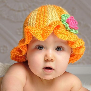 Striped Baby Sunhat - 0-18 Months