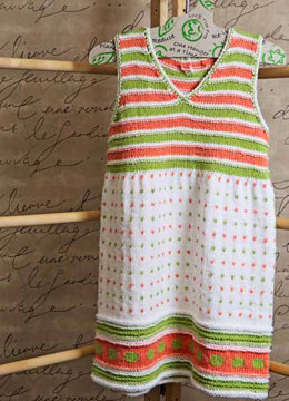 Candy Dots Girl Dress in Knit One Crochet Too Babyboo - 2112