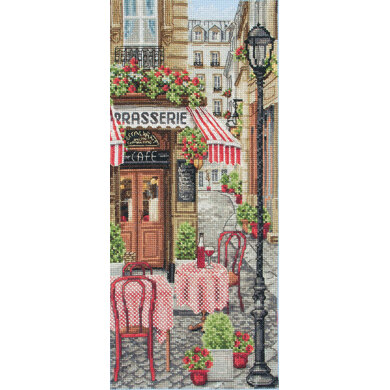 Anchor French City Scene Cross Stitch Kit - 14cm x 32cm