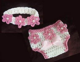 Diaper Cover and Headband 20