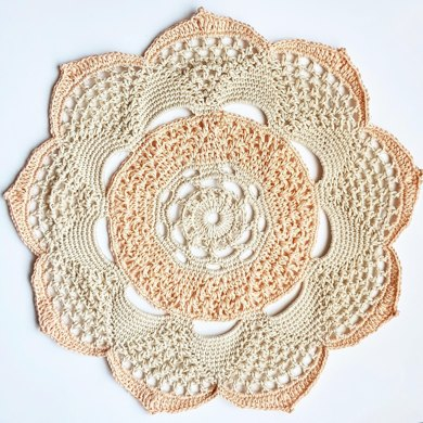 Lily in Bloom doily