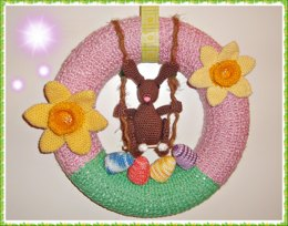 Easter Crest with Swinging Bunny