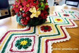 Joyful Flowers Table Runner
