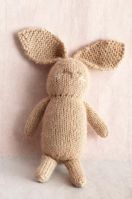 Knit Little Bunny Toy in Lion Brand Superwash Merino Cashmere - L0214AD