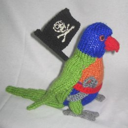 Toy Parrot – with pirate accessories