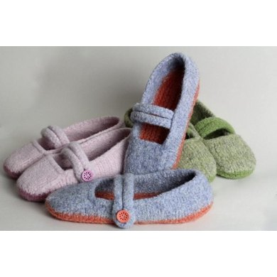 Seamless Felted Mary Janes