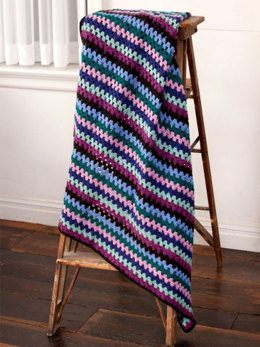 Granny Stripes Afghan in Caron Simply Soft, Simply Soft Collection & Simply Soft Brites - Downloadable PDF