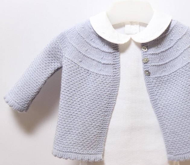 Knitting Pattern Baby Cardigan 8 Ply : 19 / Baby Jacket Knitting pattern by Florence Merlin Knitting Patterns Lo...