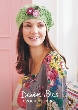 Floral Beret in Debbie Bliss Baby Cashmerino - DBS056 - Downloadable PDF