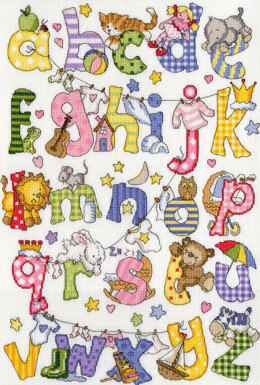 Bothy Threads My First Alphabet Cross Stitch Kit - 31cm x 44cm
