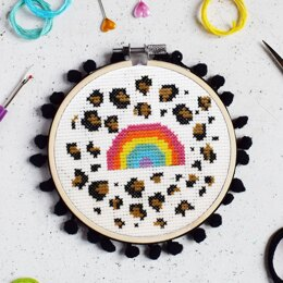 The Make Arcade Midi Cross Stitch - Leopard Rainbow