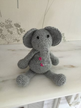 TOFT - Beatrice the elephant Toft crochet project by Lynne H