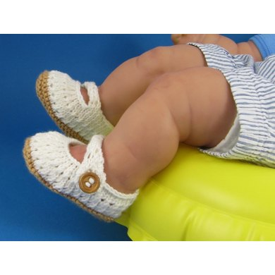 Baby Simple Lace Pattern Sandals