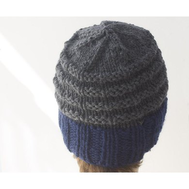 Mans Ribbed Hat Knitting Pattern By Judith Stalus