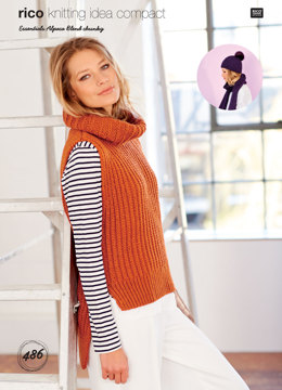 Textured Vest, Scarf and Hat in Rico Essentials Alpaca Blend Chunky - 486 - Downloadable PDF