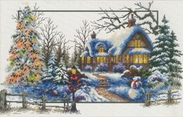 Needleart World Winter Cottage No-Count Cross Stitch Kit