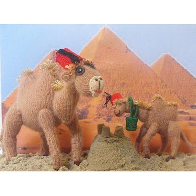 CARMELLA  AND CALLUM  CAMELS TOY KNITTING PATTERN
