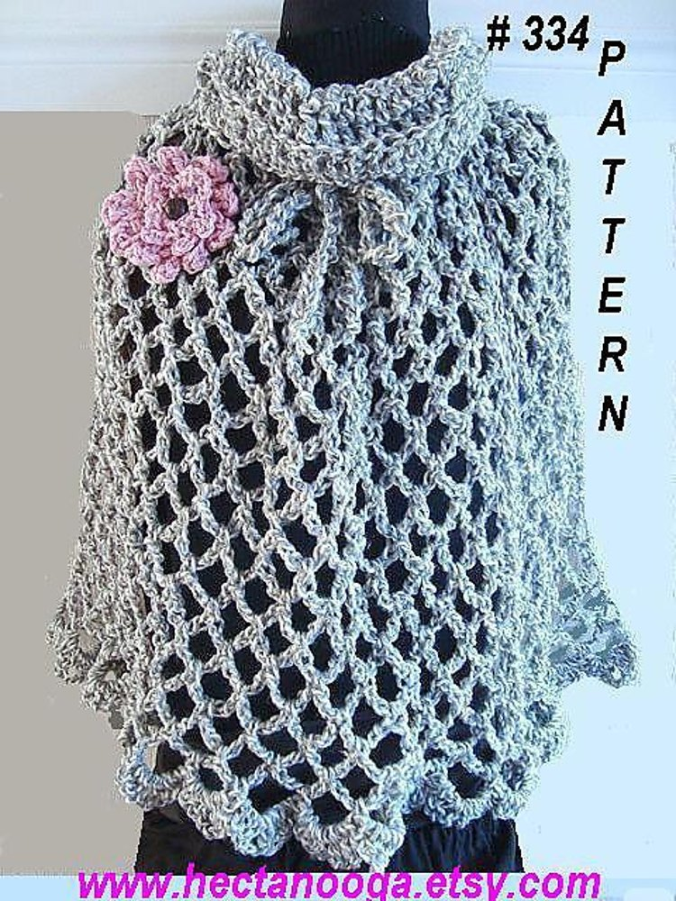334 Cowl Neck Pull Over Shawl Crochet Pattern By Emi Harrington