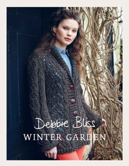 """Lace Jacket "" - Jacket Knitting Pattern For Women in Debbie Bliss Winter Garden"