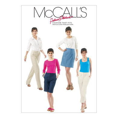 McCall's Misses' Skirt, Shorts and Pants In 2 Lengths M6361 - Sewing Pattern