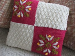 Snowflake and Texture Cushion Cover