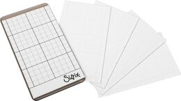 "Sizzix Sticky Grid Sheets 5/Pkg Inspired By Tim Holtz - 2.5""X4.5"""