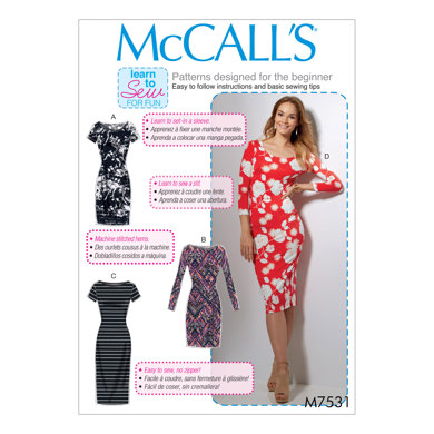 McCall's Misses' Knit Bodycon Dresses M7531 - Sewing Pattern