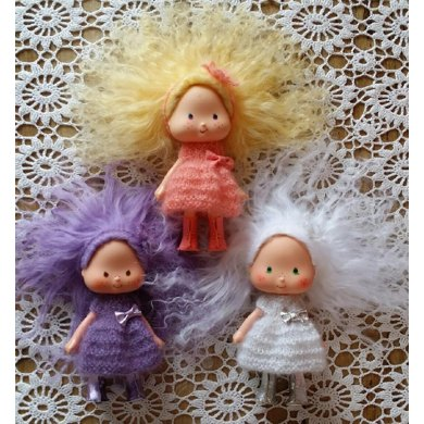 Candy Floss Dress And Flower Headband For Strawberry Shortcake Doll