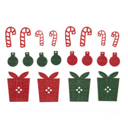 Trimits Gifts, Baubles and Candy Canes Button Bag