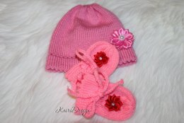 "18"" doll hat and mittens"