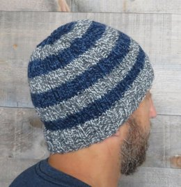Easy Striped Men's Beanie