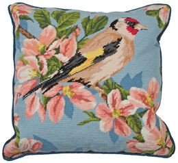 Anchor Gold Finch and Blossom Tapestry Cushion Front Kit