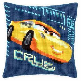 Vervaco Cars Cruz Cross Stitch Cushion Cross Stitch Kit